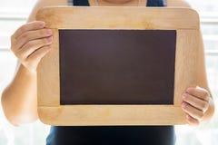 Pusty Kredowej deski tło, puste miejsce/ Blackboard tło Blackboard tekstura Obraz Royalty Free