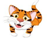 pusty kreskówki znaka tygrys Zdjęcie Royalty Free
