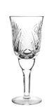 Pusty krystaliczny szkło fotografia royalty free