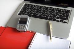 pusty laptopu notatnika telefon Obrazy Royalty Free