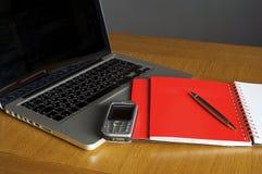 pusty laptopu notatnika telefon Obraz Royalty Free