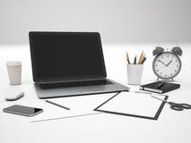 Pusty laptopu przód Obrazy Stock