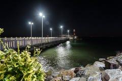 Pusty lata miasteczko Przy zimy nocą - Turcja Obrazy Royalty Free