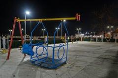 Pusty lata miasteczko Przy zimy nocą - Turcja Zdjęcie Stock