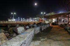 Pusty lata miasteczko Przy zimy nocą - Turcja Obrazy Stock