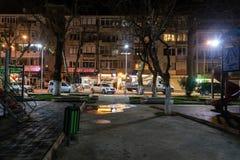 Pusty lata miasteczko Przy zimy nocą - Turcja Zdjęcia Stock