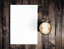 Pusty letterhead i kawa Fotografia Stock