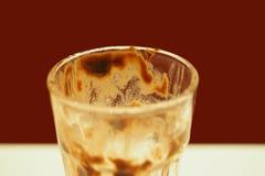 Pusty lody szkło Fotografia Stock