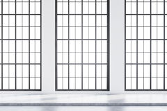 Pusty loft pokój z betonową podłoga ilustracja wektor