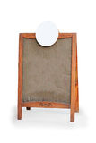 Pusty menu deski stojaka znak Fotografia Stock