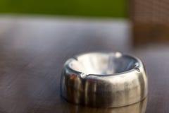 Pusty metalu ashtray Zdjęcie Royalty Free