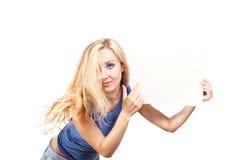 pusty mienie odizolowywająca szkotowa kobieta Zdjęcie Stock