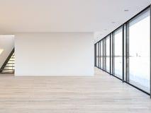 pusty mieszkania loft świadczenia 3 d ilustracji