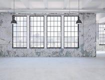 pusty mieszkania loft świadczenia 3 d ilustracja wektor