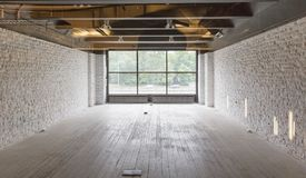 pusty mieszkania loft fotografia stock