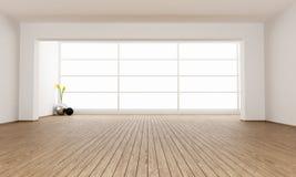 Pusty minimalistyczny pokój ilustracji