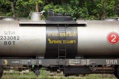Pusty Nafciany bogie pociąg przy Chiangmai stacją kolejową Zdjęcia Royalty Free