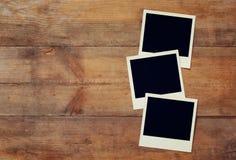 Pusty natychmiastowy fotografia album przygotowywający stawiać wizerunki Obraz Stock