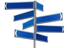 pusty niebieski kierunku znak Fotografia Royalty Free
