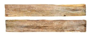 Pusty nieociosany drewniany znak na białym tle Fotografia Royalty Free