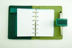 Pusty notatnik z piórem Zdjęcia Stock