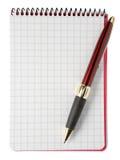 pusty notepad długopis. Fotografia Stock