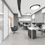 Pusty nowożytny biurowy wewnętrzny miejsce pracy Zdjęcia Royalty Free