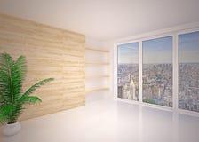 Pusty nowożytny wewnętrzny żywy pokój, hol Zdjęcia Royalty Free