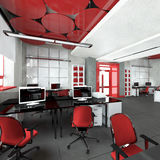 Pusty nowożytny biurowy wewnętrzny miejsce pracy Fotografia Stock