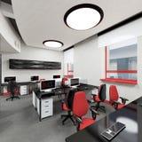 Pusty nowożytny biurowy wewnętrzny miejsce pracy Fotografia Royalty Free