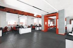 Pusty nowożytny biurowy wewnętrzny miejsce pracy Obrazy Royalty Free