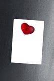 Pusty nutowej karty magnesu obcięty serce Zdjęcia Stock