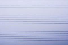 Pusty nutowy papier dla muzykalnych notatek Fotografia Royalty Free