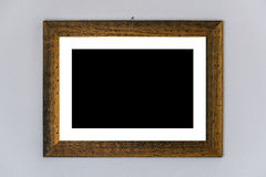 Pusty obrazka placeholder w drewnianej ramie Obrazy Royalty Free