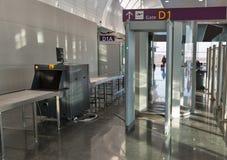 Pusty ochrona lotniska czeka punkt zdjęcie royalty free