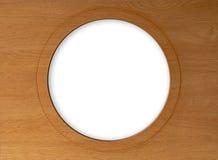Pusty okrąg na drewnianej ramie zdjęcia royalty free