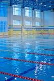 Pusty pływacki basen Obrazy Royalty Free