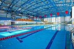 Pusty pływacki basen Fotografia Royalty Free