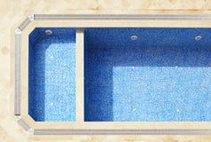 Pusty pływacki basen Obraz Royalty Free