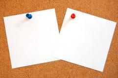 pusty papieru szpilki pchnięcia prześcieradło zdjęcie royalty free