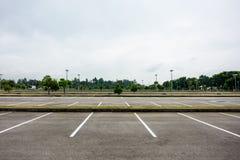 pusty parking Zdjęcie Royalty Free