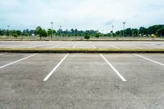 pusty parking Obrazy Stock