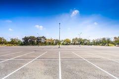 pusty parking partii Zdjęcie Royalty Free