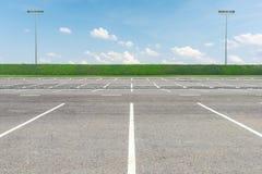 pusty parking partii Zdjęcia Stock