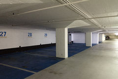 pusty parking pod ziemią Fotografia Stock