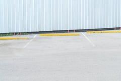 pusty parking samochód Zdjęcia Royalty Free