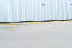 pusty parking samochód Zdjęcie Royalty Free