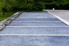 Pusty parking w jawnym parku Fotografia Stock