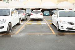 Pusty parking z Odbitkową Pisze przestrzenią zdjęcie royalty free
