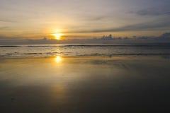 Pusty Plażowy zmierzchu tło Obrazy Royalty Free